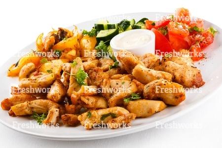 國產安心雞腿丁(蒜味) 2